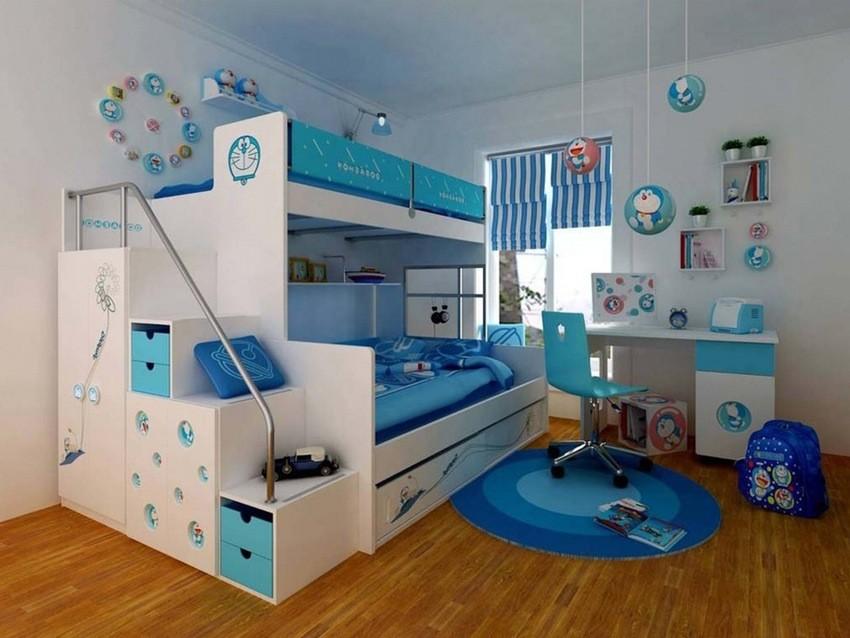 Декор в детской комнате для мальчика