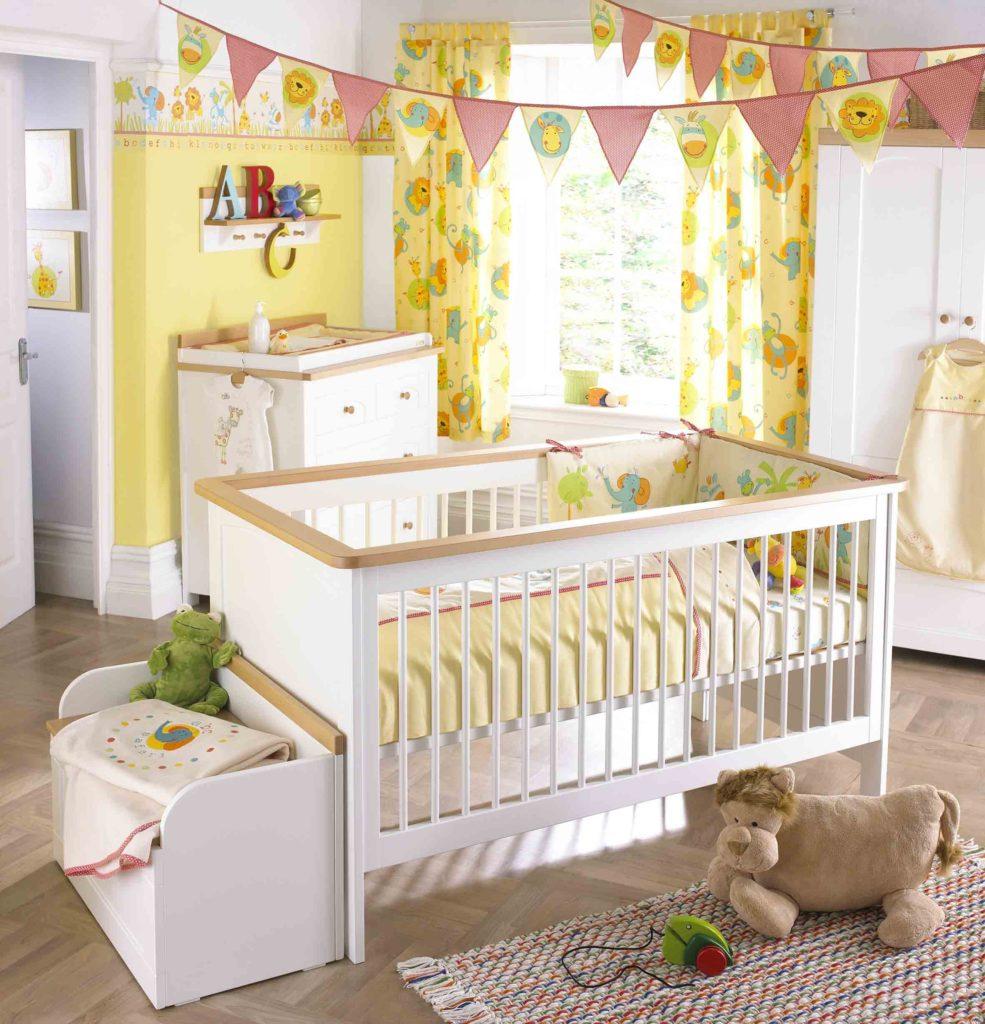 Декор в детской комнате для новорожденных