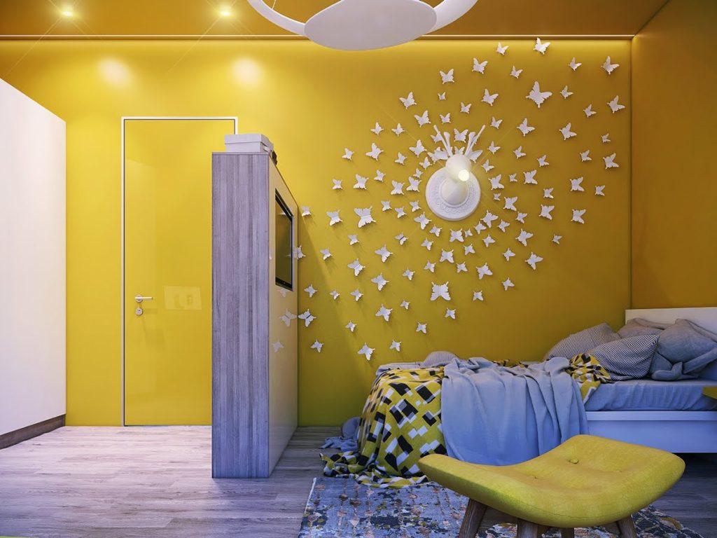 Декор в детской комнате из подручных материалов