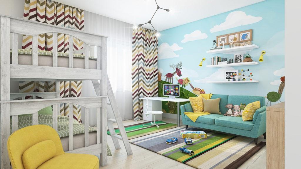 Декор в детской комнате панно