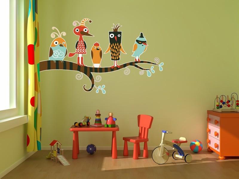 Декор в детской комнате росписи и мебель