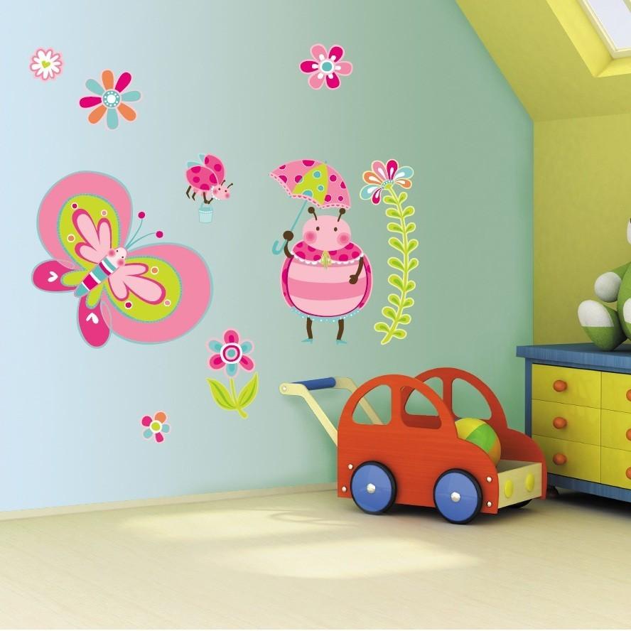 Декор в детской комнате росписи на стенах
