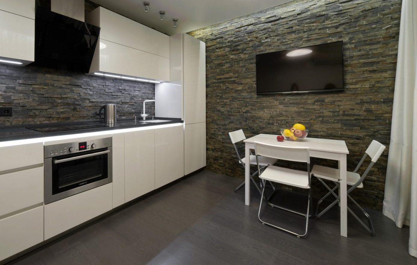 декоративный камень на кухне удобство