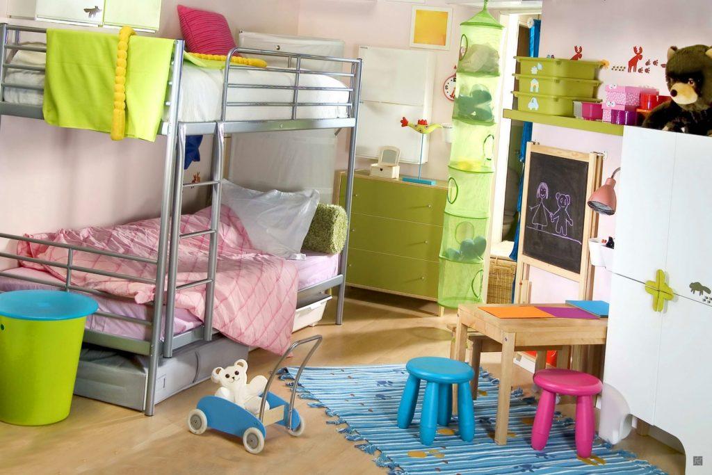 Дизайн детской комнаты для двух разнополых детей двухъярусная кровать