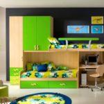 Дизайн детской комнаты для двух разнополых детей общее рабочее место