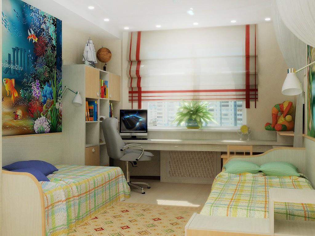 дизайн детской комнаты для двух разнополых детей советы и 50 фото