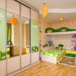 Дизайн детской комнаты для двух разнополых детей со шкафом-купе