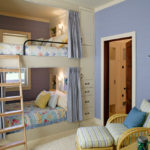 Дизайн детской комнаты для двух разнополых детей традиционный стиль