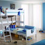 Дизайн детской комнаты для двух разнополых детей в угловом помещении