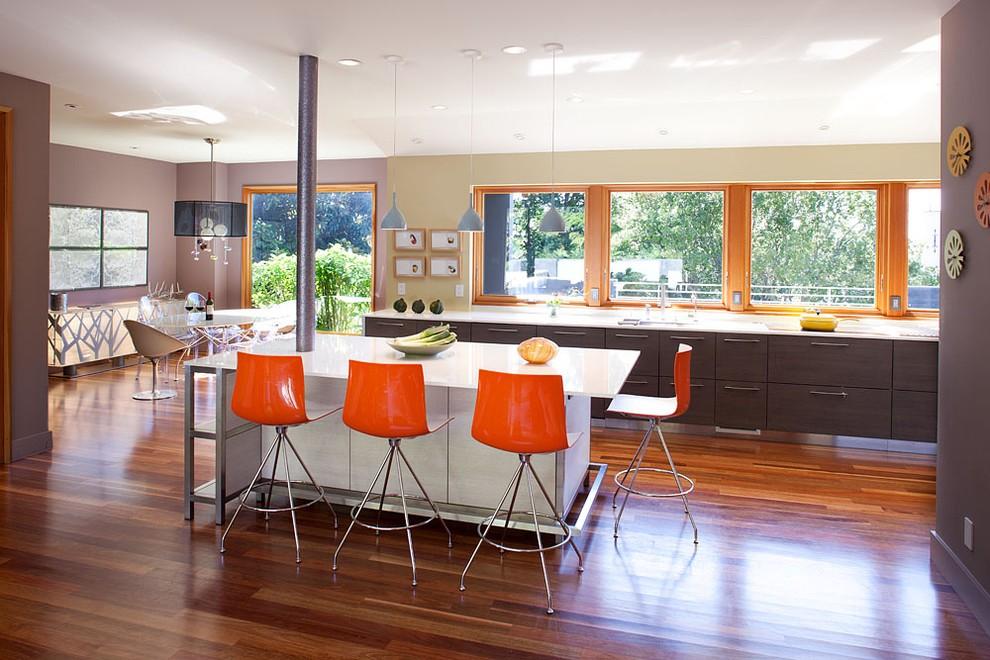 Дизайн кухни в современном стиле контемпорари пластиковая мебель