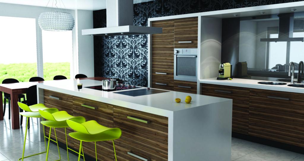 Дизайн кухни в современном стиле контемпорари встроенная мебель