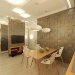 Дизайн кухни в современном стиле пластик стекло и много света