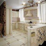 Дизайн кухни в современном стиле стилизация под классику