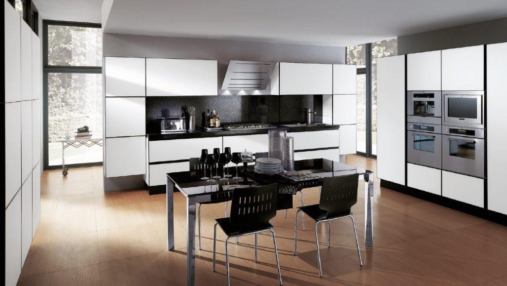 Дизайн кухни в современном стиле технологичный хай-тек
