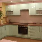 Дизайн кухни в современном стиле угловой вариант