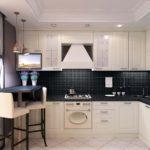 Дизайн кухни в современном стиле в городской квартире