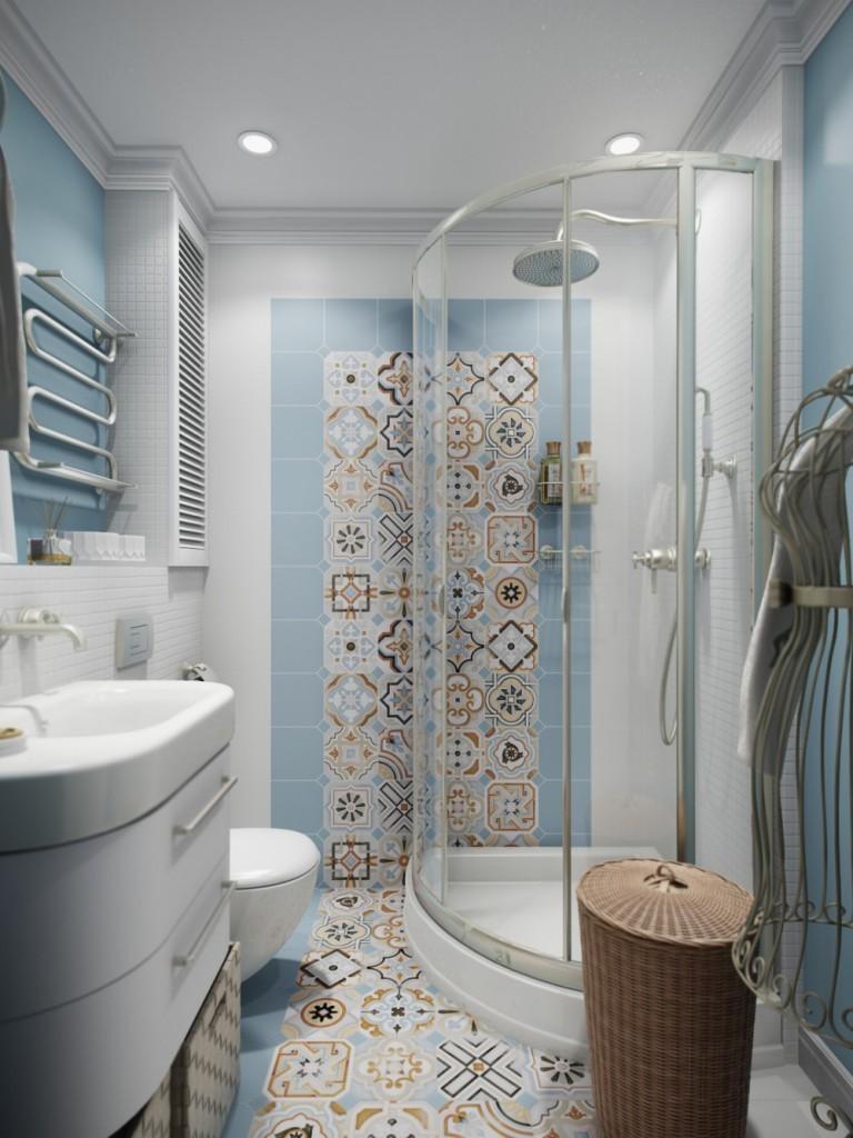 ванная 4 м2 с душевой кабиной