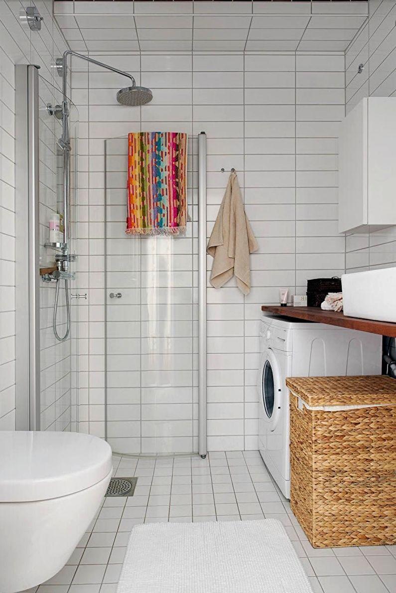 дизайн ванной 4 кв м с плиткой