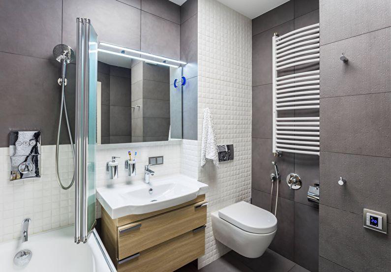 дизайн ванной 4 кв м с зеркалом