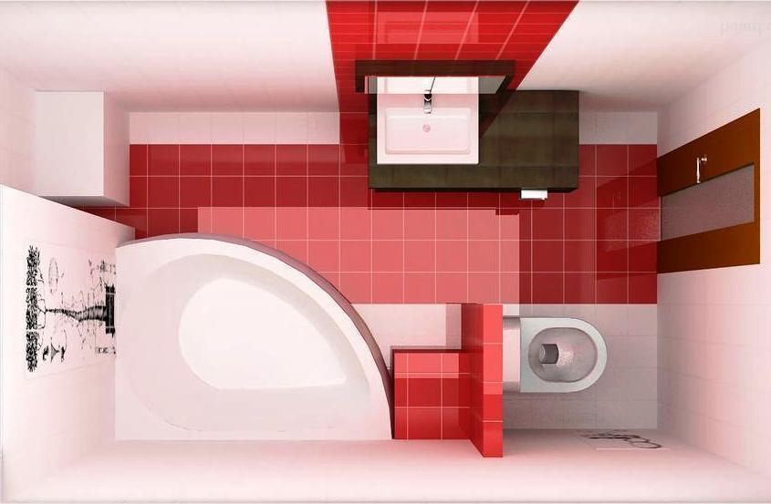 Дизайн ванной комнаты 6 кв м 3d-проект