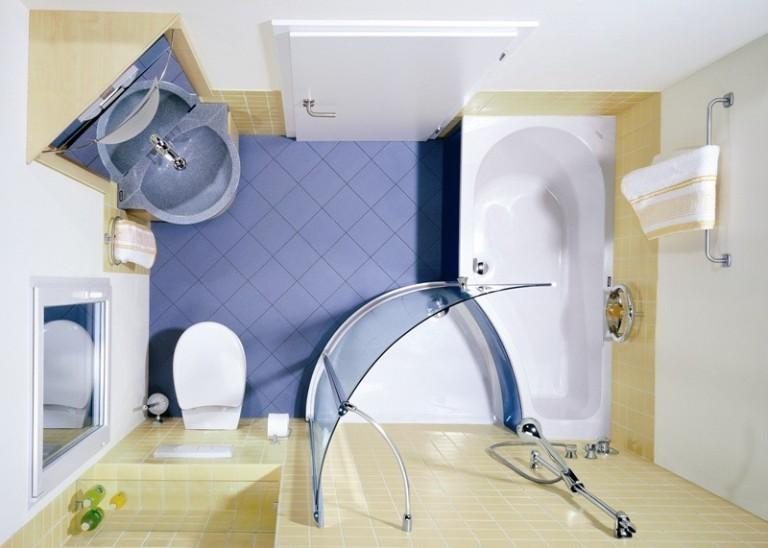 Дизайн ванной комнаты 6 кв м душ совмещен с ванной