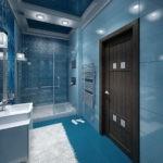 Дизайн ванной комнаты 6 кв м душевая зона со стеклянной перегородкой