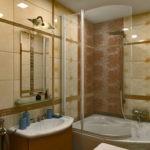 Дизайн ванной комнаты 6 кв м широкая плитка бордюры с орнаментом