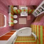 Дизайн ванной комнаты 6 кв метров с неправильными размерами