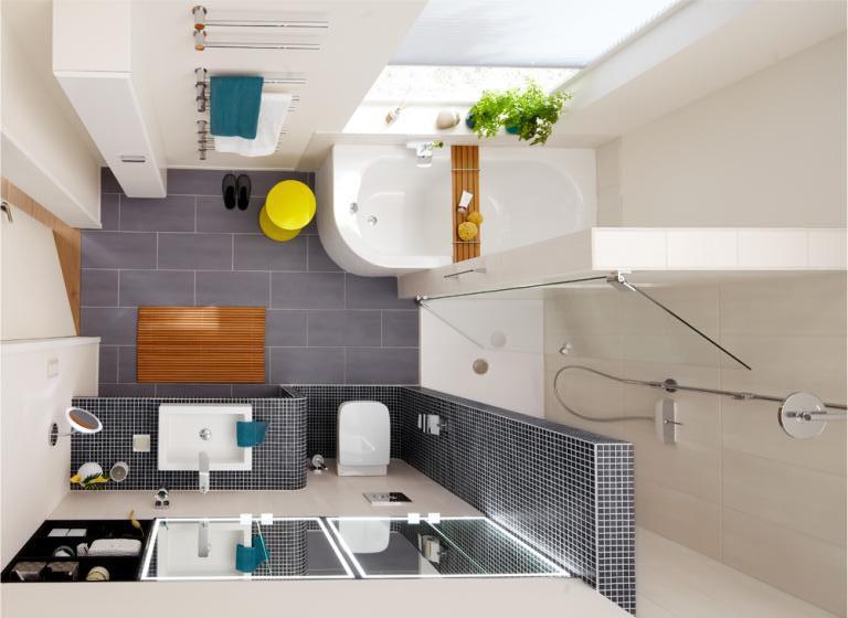 Дизайн ванной комнаты 6 кв ванна и душ отдельно