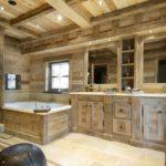 Дизайн ванной комнаты в частном доме брутальное шале