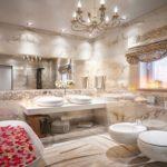Дизайн ванной комнаты в частном доме отделка под мрамор