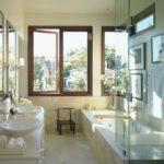Дизайн ванной комнаты в частном доме сторгий хайтек