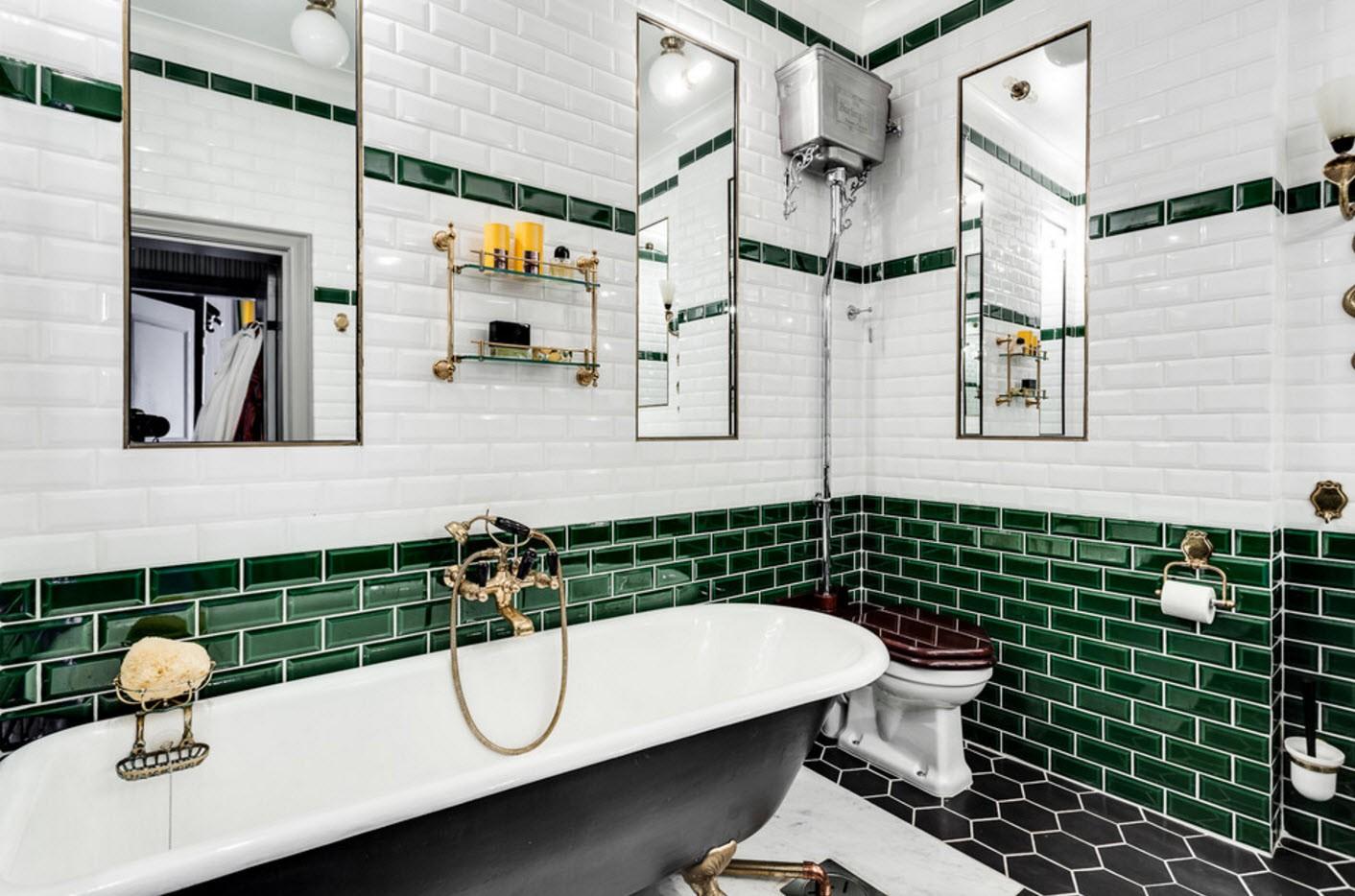 эффектный дизайн ванной с туалетом