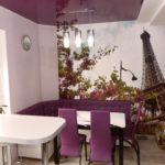 Фотообои в интерьере кухни для уголка отдыха