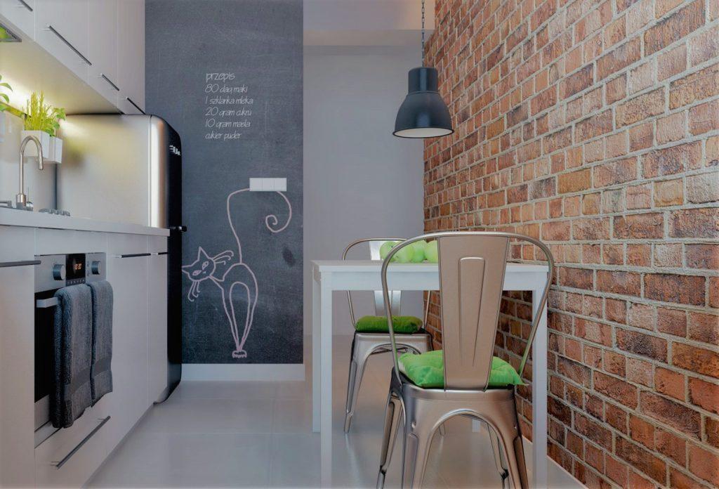 Фотообои в интерьере кухни из стекловолокна