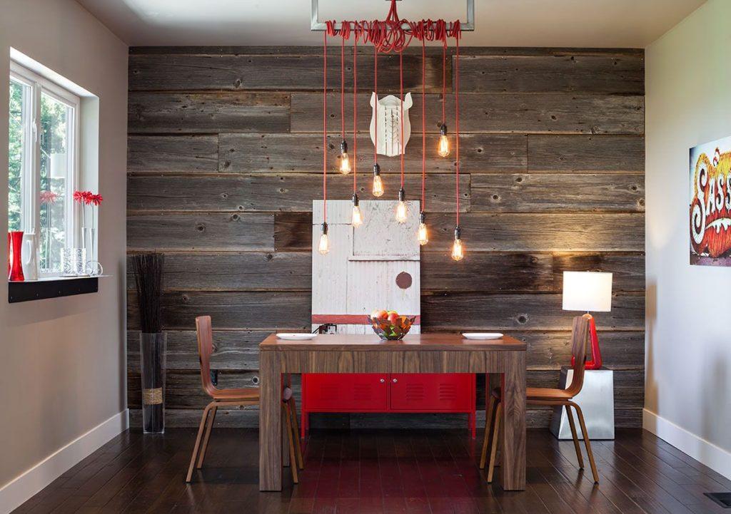Фотообои в интерьере кухни с текстурой