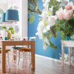 Фотообои в интерьере кухни в скандинавском стиле