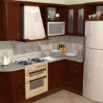 Холодильник в интерьере кухни гарнитур на заказ