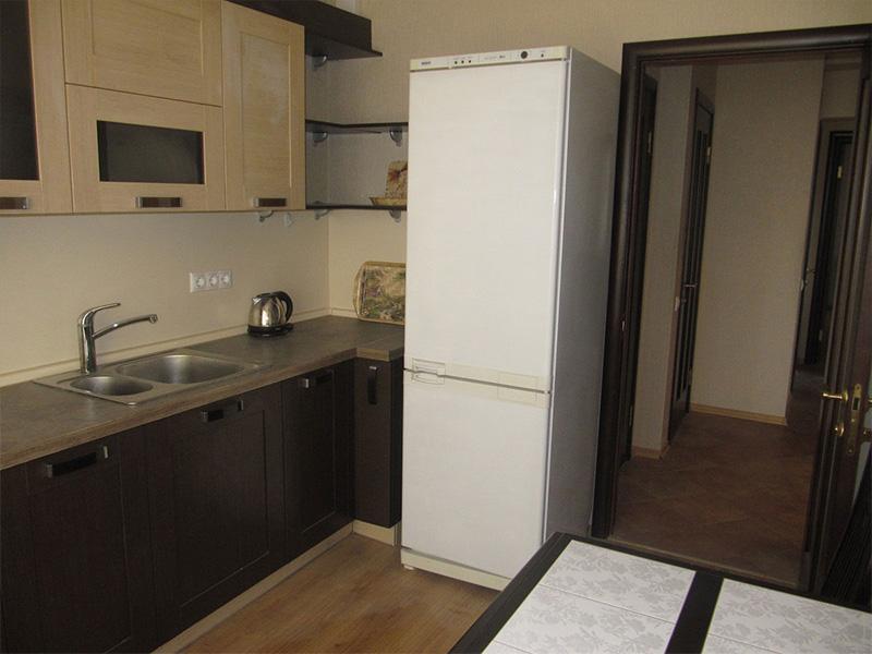 Холодильник в интерьере кухни в хрущевке