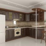 Холодильник в интерьере кухни в стиле модерн