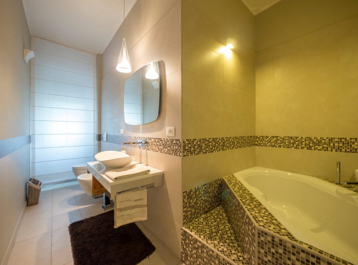 необычная планировка ванной с туалетом