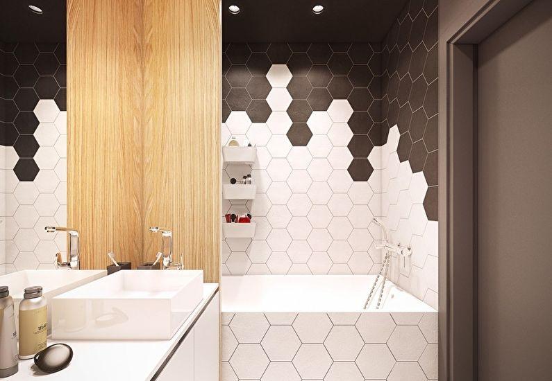 необычный дизайн ванной 4 кв м