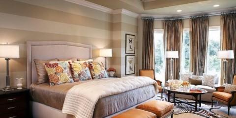 оформление стен в спальне личный выбор