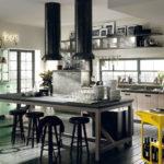 Сочетание цветов интерьер кухни доминирующие черный и желтый