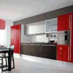 Сочетание цветов интерьер кухни красный и черный