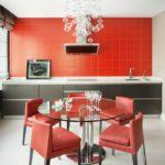 Сочетание цветов интерьер кухни красный и черный на белом фоне