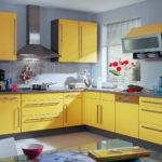 Сочетание цветов интерьер кухни матовый светлый желтый на сером фоне