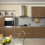 Сочетание цветов интерьер кухни серый и светло-коричневый