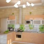 Сочетание цветов интерьер кухни светло-оранжевый