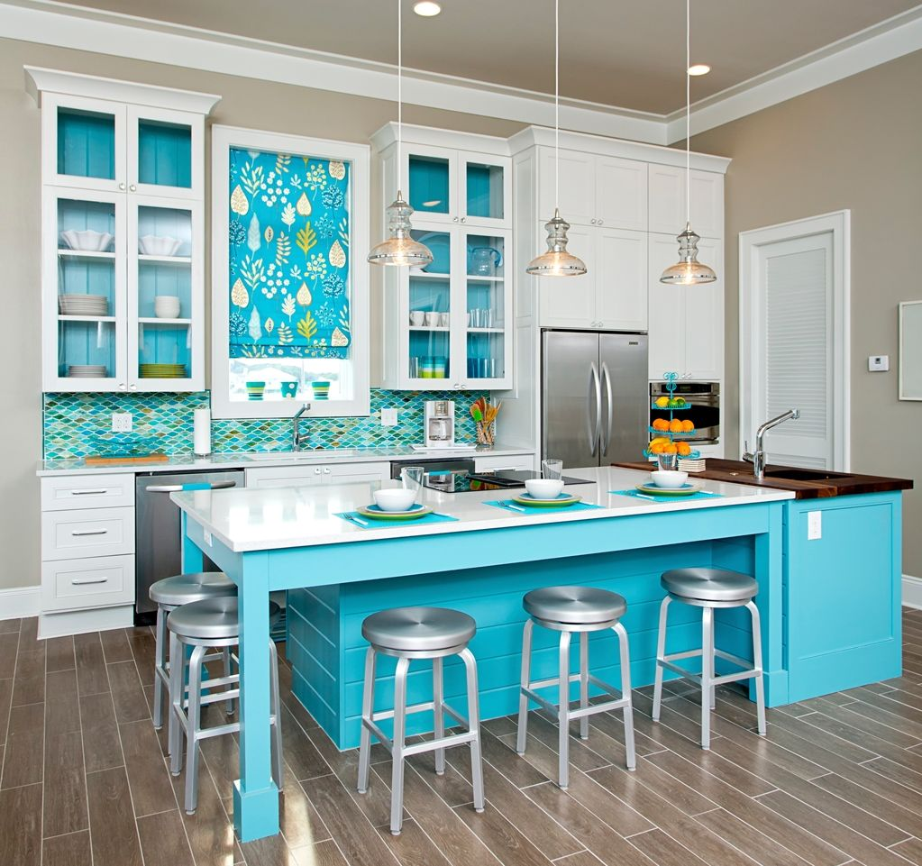 Сочетание цветов интерьер кухни светлые оттенки синего